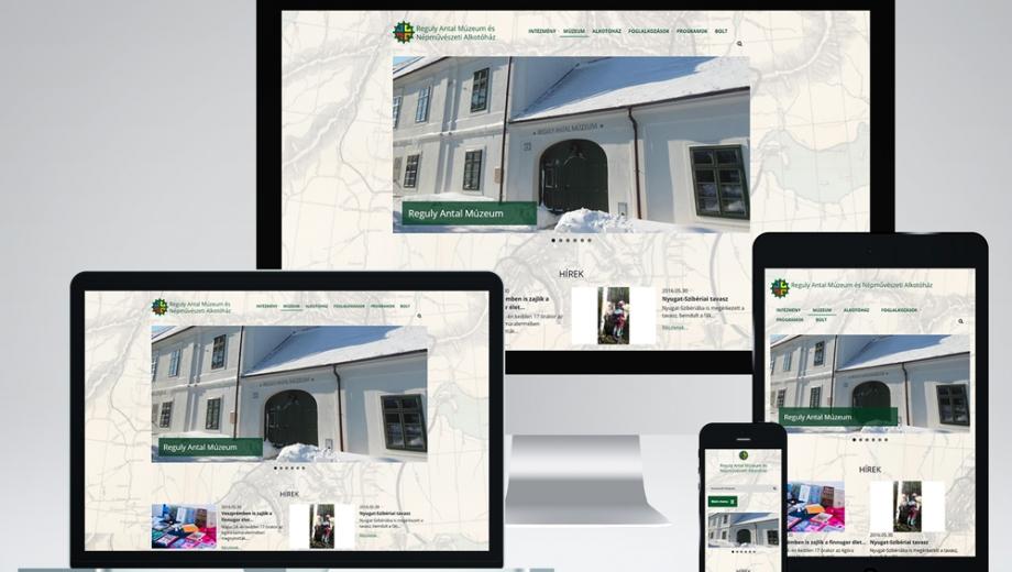 Reguly Múzeum honlap fejlesztés