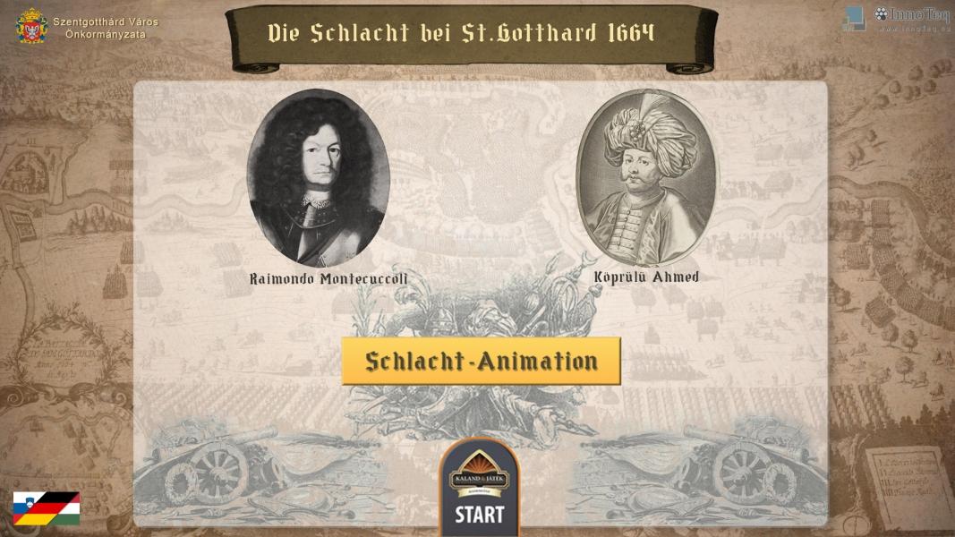 Szentgotthárd – digitális terepasztal német verzió
