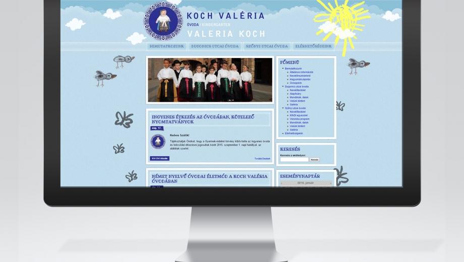 Koch Valéria óvoda honlapja